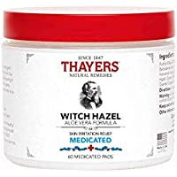 THAYERS -Super Hazel with Aloe Vera Formula, 60 Medicated Pads