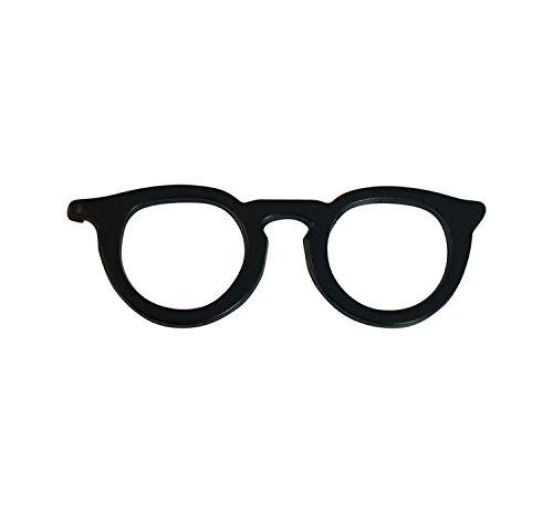 Ammvi Creations Funky Specs Matte Finish Electro Black Brooch cum Tie-clip Lapel...