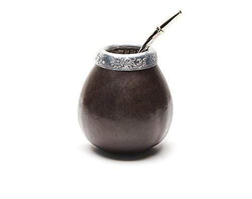 Gourd mate hecho a mano (taza) con pajita (Bombilla).    Este juego incluye un mate Gourd y una pajita (Bombilla). Estos calabazas mate fueron cuidadosamente seleccionados por nosotros para la calidad, el grosor y la artesanía junto con los método...