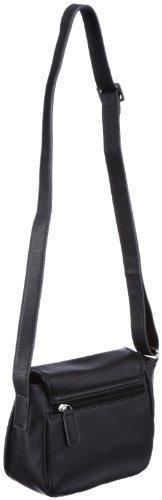 GERRY WEBER Moviestar Flap Bag S 4080001159, Damen Umhängetaschen, Schwarz (black 900), 19x16x8 cm (B x H x T) Schwarz (Black 900)