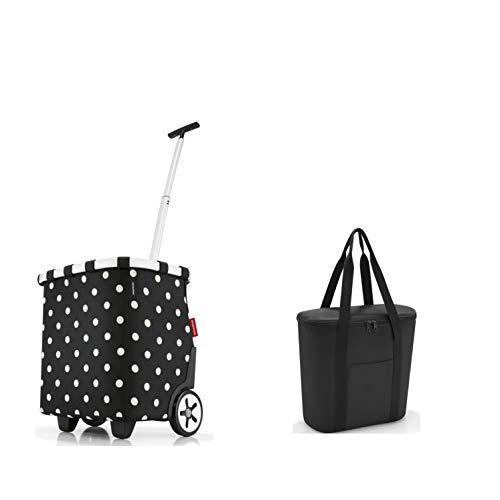 perfektes reisenthel Einkaufs-Taschen-Set 2tlg. reisenthel carrycruiser/Einkaufstrolley und GRATIS reisenthel Isotasche/thermoshopper in trendigen Designs (Mixed dots)