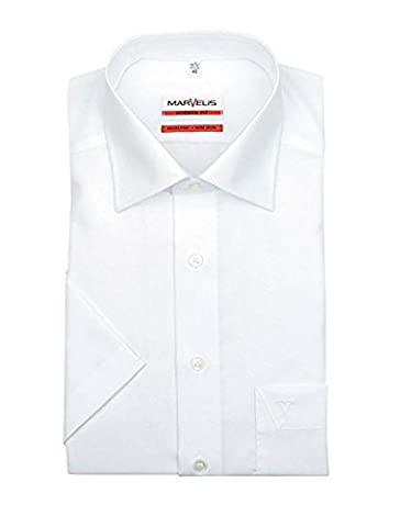Kurzarmhemd, weiß, Slim/Modern Fit