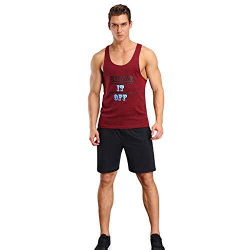 EUZeo Herren Kompressionsshirt Casual Ärmellos Funktionsshirt Tanktop Shorts Sets Komfortables Tank Top Hosen Trainingsanzüge Pants Set mit Kompressionspassform Sportswear Slim ()