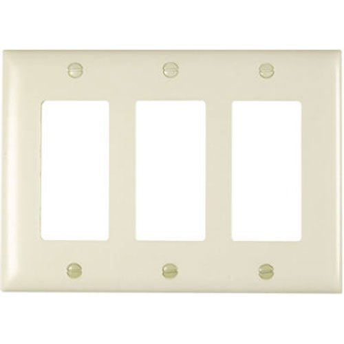 PASS & SEYMOUR Light Almond 3-Opening Nylon Wall Plate (Wall Plate Light Almond)
