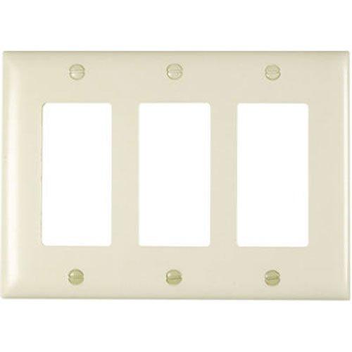 PASS & SEYMOUR Light Almond 3-Opening Nylon Wall Plate (Wall Plate Light Almond)
