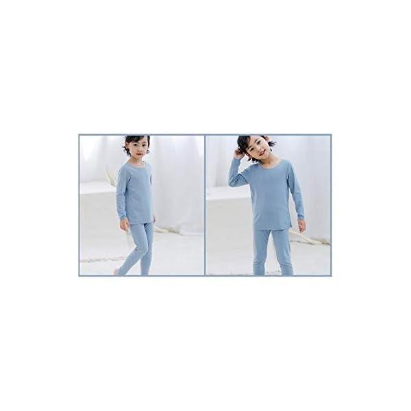 Pouybie 1 pc Pijamas para niños, Ropa Interior térmica sin Costuras y Ropa Interior térmica de Invierno para niños Top… 3