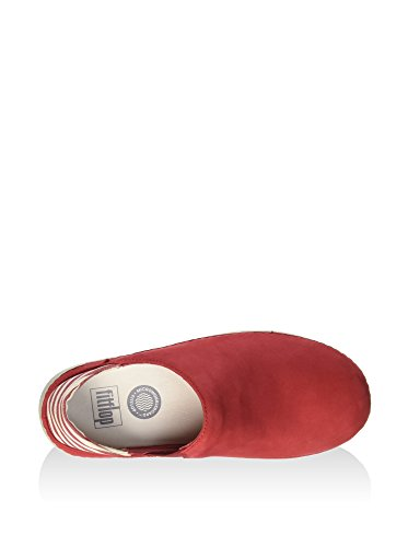 FitFlop Superloafer Leinwand Schuhe Klassisch Rot Classic Red