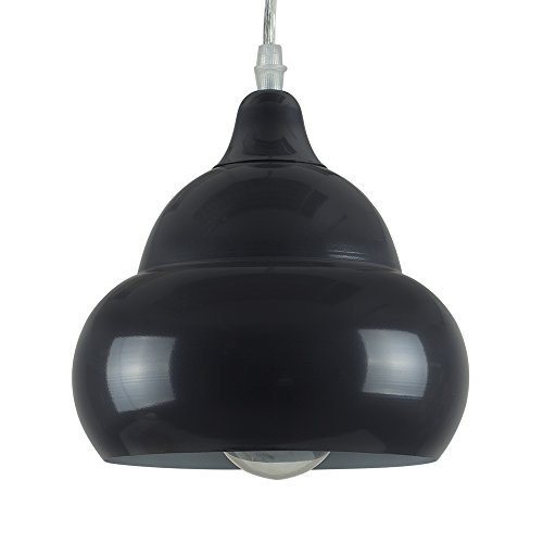 MiniSun - Contemporánea lámpara de techo colgante efecto onda massive en metal gris oscuro