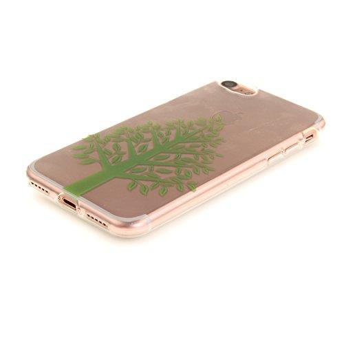 A9H iPhone 7 Hülle mit Kameraschutz transparent dünne Schutzhülle Case Cover für Apple iPhone7 ( 4,7 ) aus flexiblem TPU -15HUA 21HUA