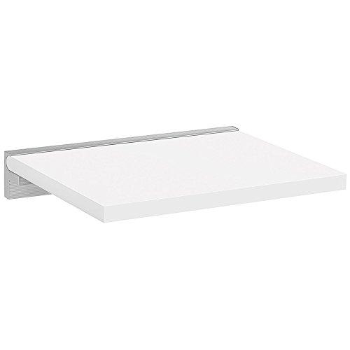 REGALRAUM Wandboard/Wandregal SUMO+CUBE | 45x30 cm - weiß/silber