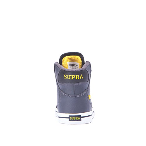 Supra - Kids Vaider, Scarpe a collo alto infantile Grey / black - white