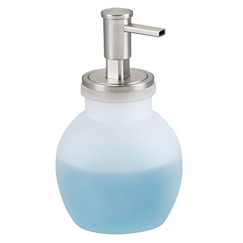 mDesign Dispensador jabon espuma rellenable - Dosificador de jabon en vidrio con capacidad de 432 ml - Dispensador de jabon liquido para cocina o baño - esmerilado/pulido