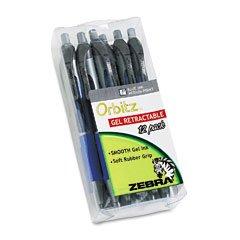 orbitz-retractable-gel-pen-blue-ink-medium-dozen