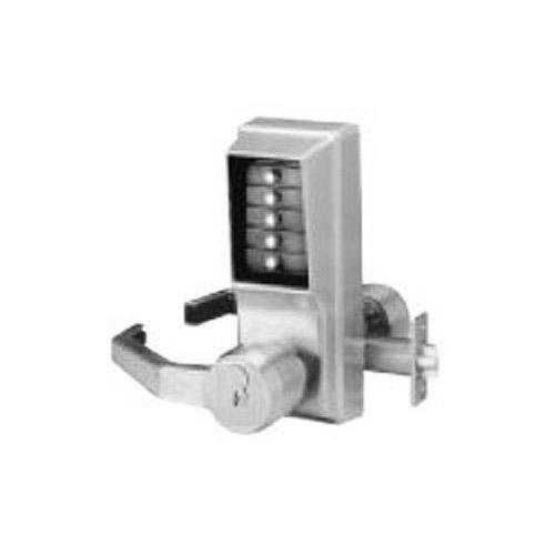 Kaba LL1021M-26D-41 Cylindrical Push Button Lock Lever Mic Ko Lh Us26D, Satin Chrome by Simplex (Satin Ko)