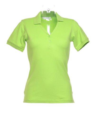 Kustom Kit - Polo -  - Manches courtes Femme vert citron