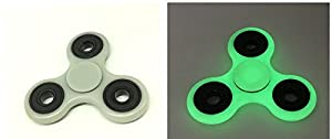 Hand Spinner Stress Relief Toy, Tri-Spinner Fidget Toy 3D Printing EDC Focus Toy for Killing Time (Glow in the Dark) by saanvi porchester ltd