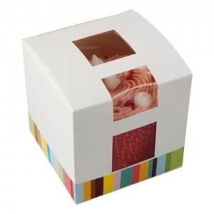 Karton Single Cup Cake Box 10Stück (Single Cupcake Box)