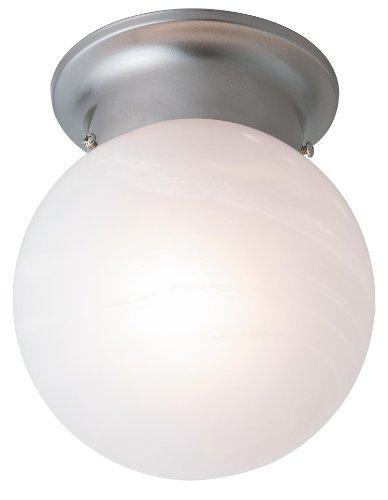Trans Globe Lighting 3606 BN 1-Light Flush-Mount, Brushed Nickel by Trans Globe Lighting -