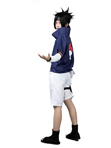 CosFantasy mp002815 Naruto Sasuke Uchiha Cosplay Kostüme 1st ver Outfits - Blau - XX-Large