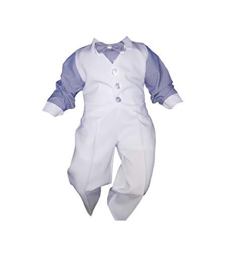 Unbekannt - Abito da battesimo - Bebè maschietto blu 80 cm