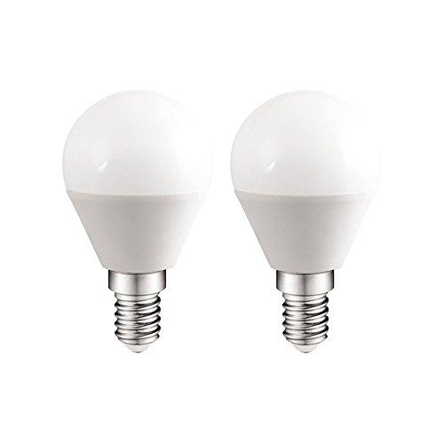 Pack 2x LED Glübirnen Glühlampe Glühbirnen E146W CALIDA Licht (3000K) 470lm.