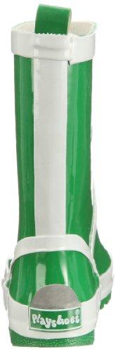 Playshoes Gummistiefel uni mit Reflektorstreifen 184310 Mädchen Gummistiefel Grün (grün 29)