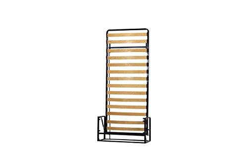 Einzel WANDBETT (Längs) 90cm x 200cm (Klappbett, Schrankbett, Gästebett, Funktionsbett) WALLBEDKING Classic