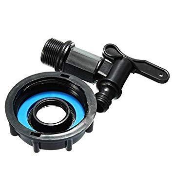 Sellify 1000 L IBC vers 15 mm Adaptateur de tuyau d'arrosage avec interrupteur