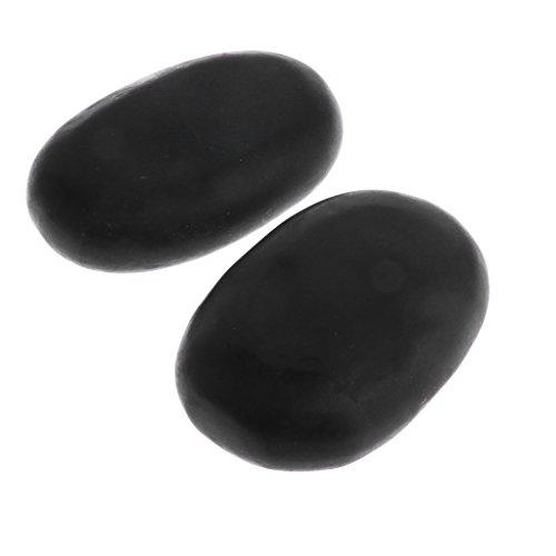 MagiDeal 2 Stück Große Basalt Massagesteine SPA Massage Hot Stone Natursteine Massage Werkzeug
