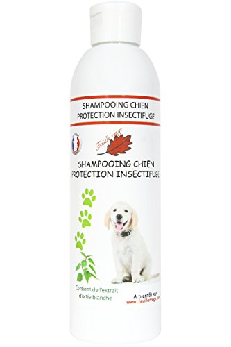 Feuille rouge - Shampooing pour Chien - protection Insectifuge - 250 ml