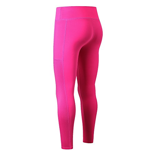 Bmeigo Donna Compression Trousers Tight Elastic Fitness Leggings Yoga Pantaloni Rose