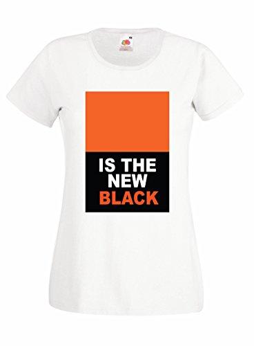 Settantallora - T-shirt Maglietta donna J1188 Orange Is The New Black Taglia S