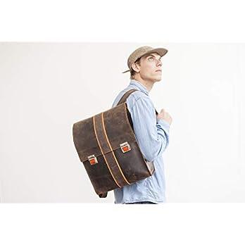 Leder Rucksack traditionelle Handwerkskunst aus Bayern Backpack für Freizeit Büro Schule