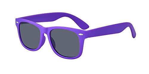 ALWAYSUV Kinder Bequem Polarisierte Sonnenbrillen für Jungen und Mädchen Alter 3-10 Brillenfassung Lila