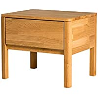 Alkove Hayes Solid Wood Bedside Table with Drawer , 56 x 44 x 47cm, Wild Oak