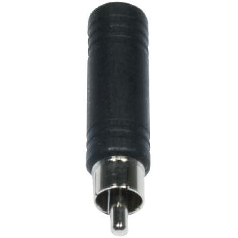 Accu Cable Jack 6,3mm mono f to RCA Cinch - Cable RCA a jack (6.3 mm, adaptador, profesional, mono, hembra)