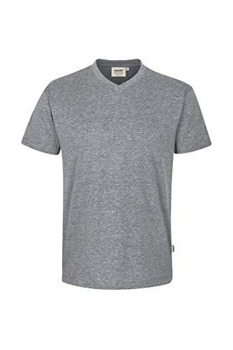 Grau Classic Long Sleeve T-shirt (Hakro V Shirt Classic, grau-meliert, L)