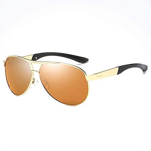 Outdoor-Sportarten Reiten Fahren UV-Schutz Reisen Strand Sonnenbrille Herren Metallrahmen Ultra Light Comfort UV400 Sonnenbrille Brille (Farbe : Brown)