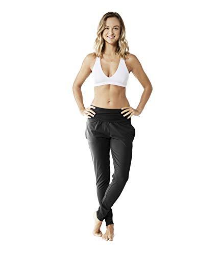 Lotuscrafts Yogahose Damen Lang aus Bio-Baumwolle - Fair & Ökologisch hergestellt - Yoga Freizeithose mit Taschen - Pluderhose -