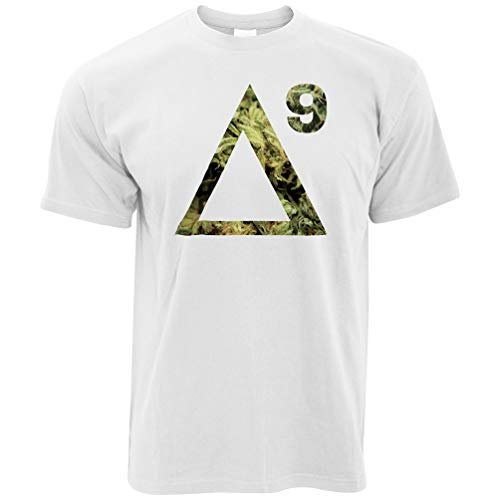 Delta 9 THC Cannabis Marihuana Molecule Medical Weed Herren T-Shirt