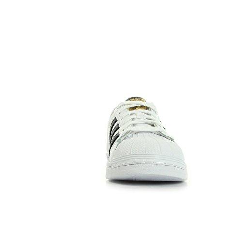 Adidas Originals Superstar, Chaussons Sneaker Mixte Enfant Blanc et noir