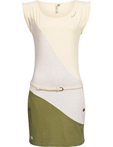 Ragwear Damen Baumwoll Jersey-Kleid Tag Block A Organic Gelb Gr. S -