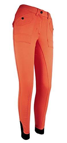 HKM Reithose -Cargo- Silikon Vollbesatz, orange, 40