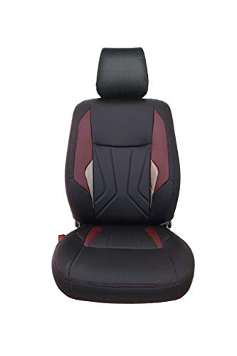 Elegant Glory Robust Black and Maroon Art Leather Seat Cover for Mahindra KUV 100 K4