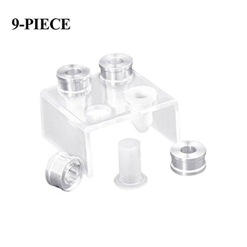 TOOGOO 9-teilig DIY 12.1mm einfache Lippenstift Fuellrohr Silikonform Aluminiumring...