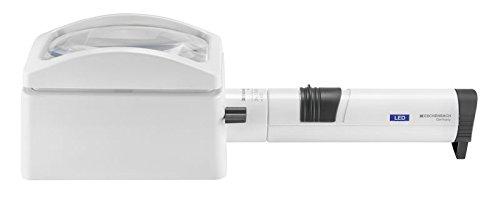 Eschenbach Standlupe LED (system varioPLUS), 2,8fach Vergrößerung / 100x75mm (rechteckig), sowie 1...