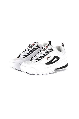 Fila Scarpe da Uomo Sneaker Disruptor CB Low in Pelle Bianca 1010575-00E