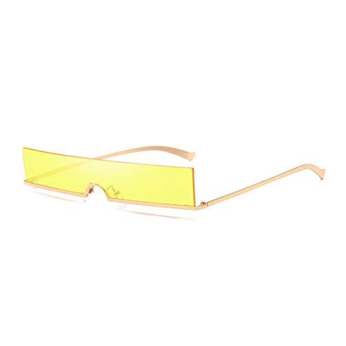 Junecat Mini Framenless Sonnenbrille Frauen Männer Brillen Rechteck Persönlichkeit Brillen UV400 Metallrahmen