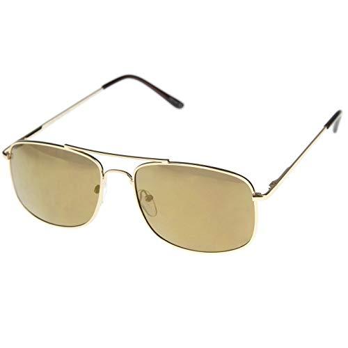Kiss Sonnenbrille mod. AIRCRAFT stil Aviatore - mann frau VINTAGE fashion unisex PILOT - GOLD/braun