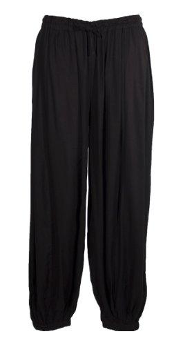 Coline - Pantalon sarouel uni - Taille Unique Noir